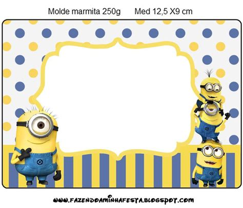 minion thank you card template free minions meu malvado favorito 2 kit completo