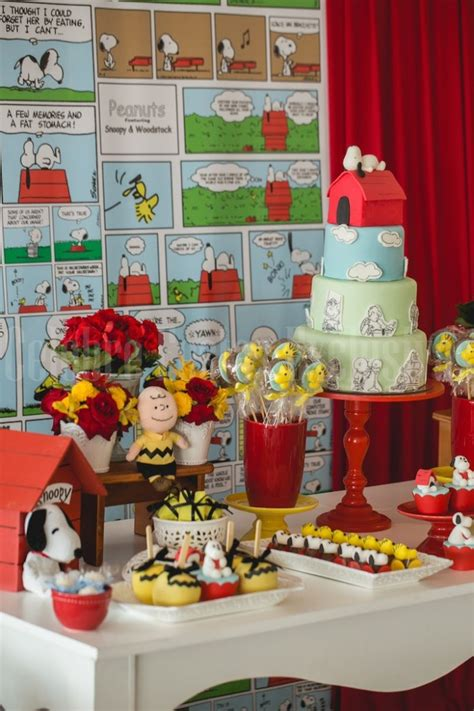 Snoopy Birthday Decorations by Snoopy Themed Birthday Via Kara S Ideas