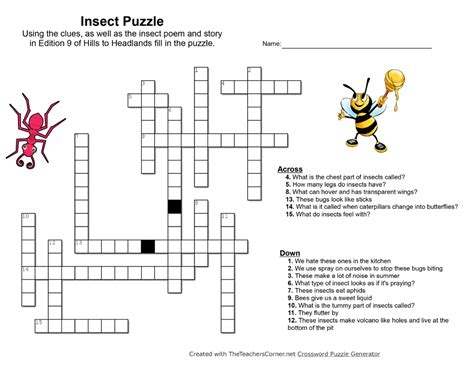 Garden Pest Crossword Answer Crossword Answer Garden Pests 28 Images Insects