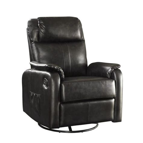 coaster swivel recliner coaster faux leather swivel glider recliner with side