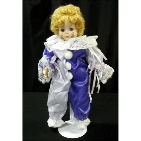 porcelain doll clown in clown costume porcelain doll
