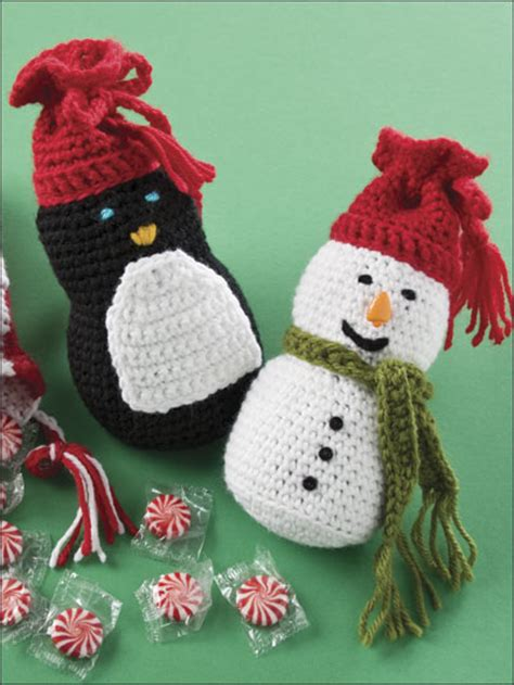winter crochet patterns cheery christmas gift bags