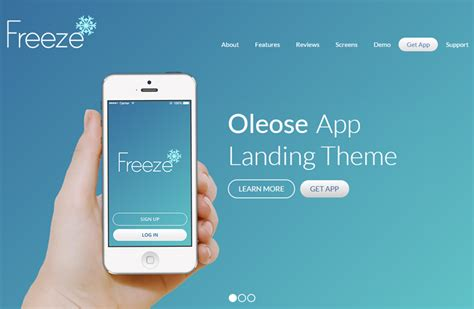 app landing page template oleose eye catching mobile app landing page
