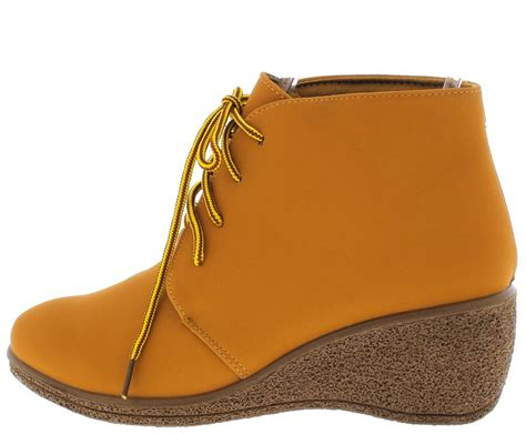Boots Wedges 88 natashawy3 camel lace up wedge ankle boots from 12 88 27 88
