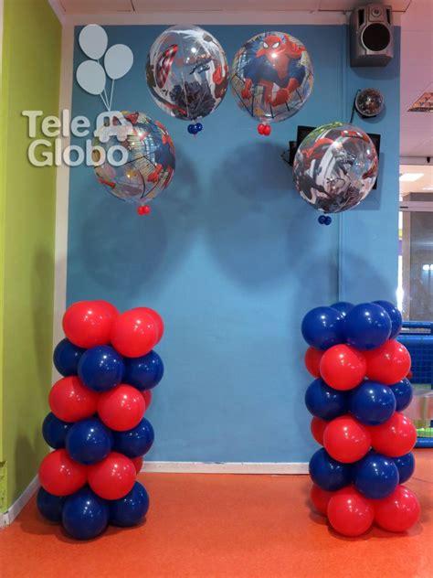 decorar globos superheroes decoraci 243 n con globos para cumplea 241 os con tem 225 tica