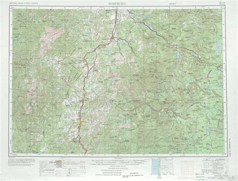 a physical map of oregon roseburg topographic maps or usgs topo 43122a1 at