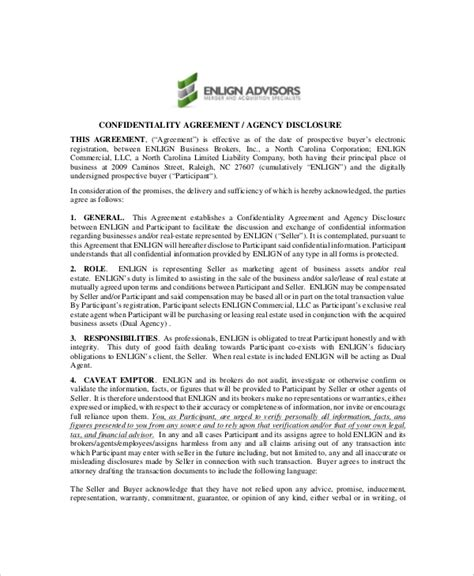real estate agreement template 8 real estate confidentiality agreement templates free