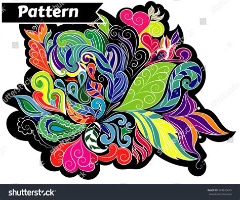multicolor pattern leaves pattern floral multicolor leaves abstract eps 10 stock