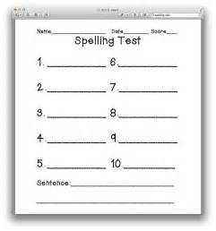Spelling Test Template 10 Words by Search Results For Spelling Test Template 10 Words