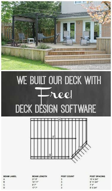 lowe s home design software we built a deck free deck design software frugal family times