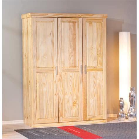 armoire chambre bois massif armoire en bois massif 3 portes achat vente armoire de