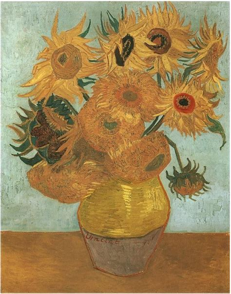 vincent gogh vase with twelve sunflowers still vase with twelve sunflowers by vincent