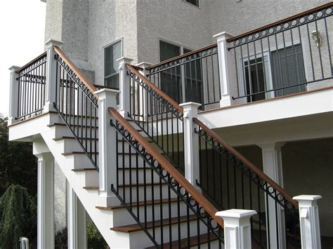 Exterior Banister by Stairs Awesome Exterior Wrought Iron Stair Railings