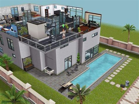 modern house the sims freeplay house designs