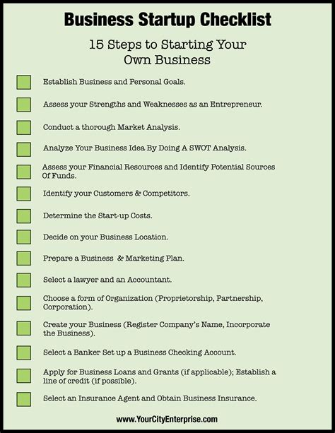 business startup checklist template business startup checklist ready to take the leap into