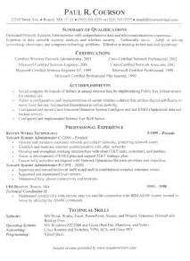 client server technician resume exle simple resume