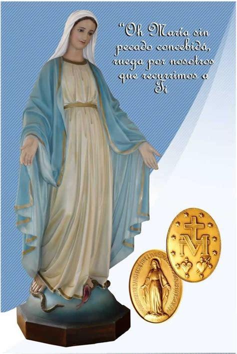 imagen virgen maria de la medalla milagrosa novena perpetua a nuestra se 241 ora de la medallla milagrosa