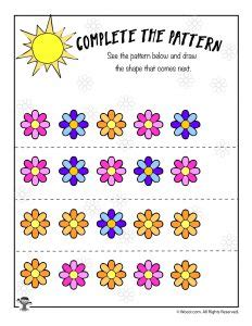 flower pattern math easy spring math worksheets math coloring greater than