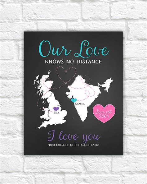 doodle ldr distance anniversary gift for boyfriend by