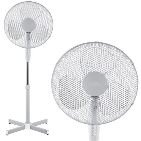 white stand up fan white 16 inch oscillating pedestal floor standing electric