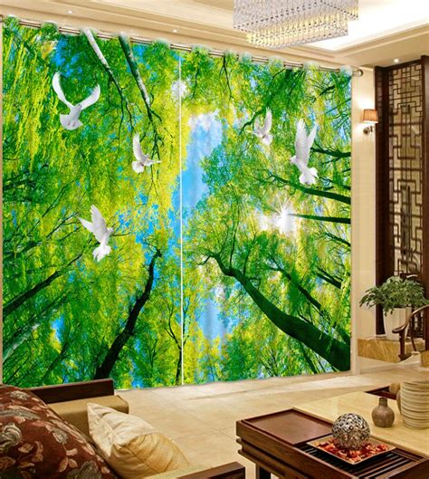 Forest Green Curtains Designs Get Cheap Forest Green Curtains Aliexpress
