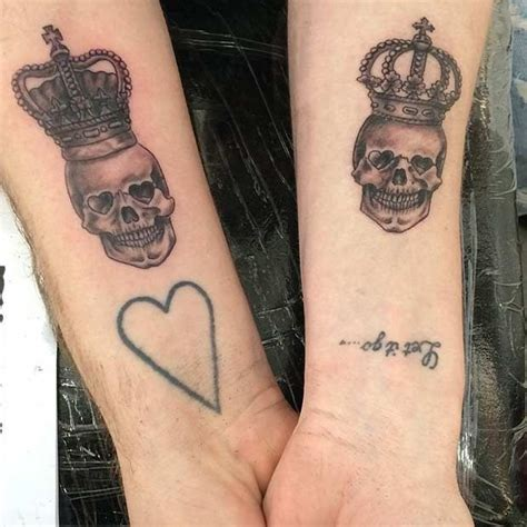 skull tattoos for couples 51 king and tattoos for couples arm