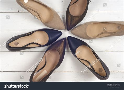 set of different shoes of several types of shoes