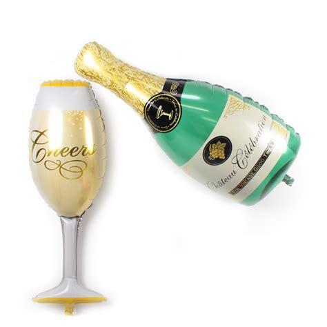 Balon Foil Wine Glass chagne bottle trumpet section balloon decoration foil