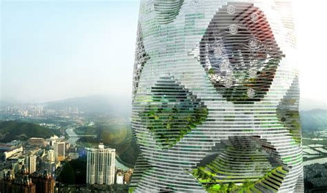 Garden Tower Vertical Container - jds s logistic city is a wind powered vertical forest for shenzhen inhabitat green design