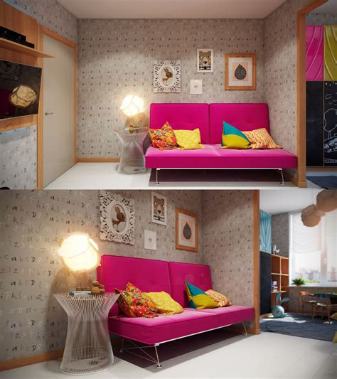 kids room futon bright and colorful kids room designs with whimsical