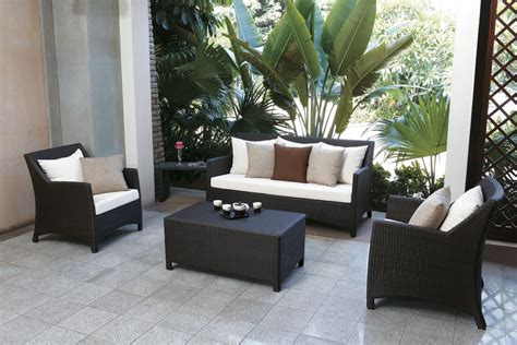 contemporary patio with exterior terracotta tile floors by