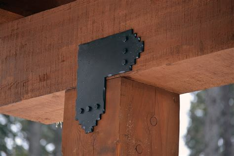 Decorative Post And Beam Hardware by Decorative Metal Brackets For Wood Beams The Minimalist Nyc