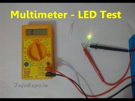 how to use multimeter for testing led bulbs continuity