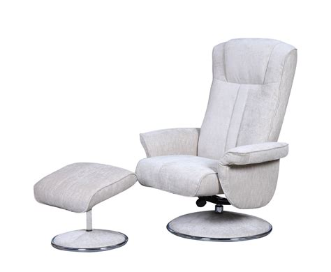 Dolan Beige Velour Fabric Swivel Chair And Foot Stool Swivel Fabric Chair