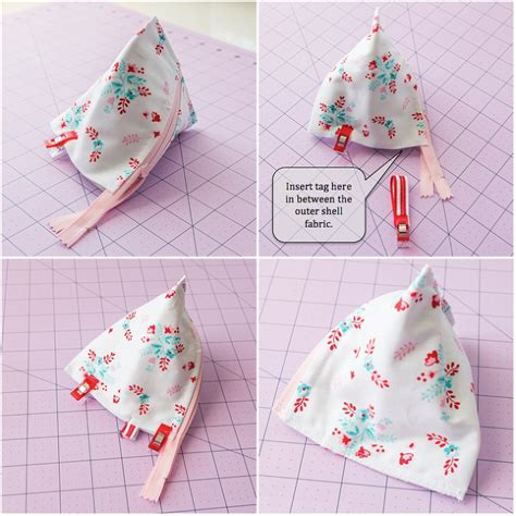 zippered pouch sewing pattern how to sew a triangle zipper bag pyramid pouch sewing