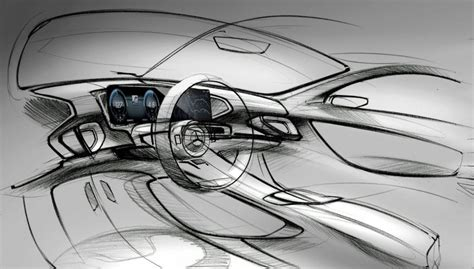 mercedes benz gle interior sketches released