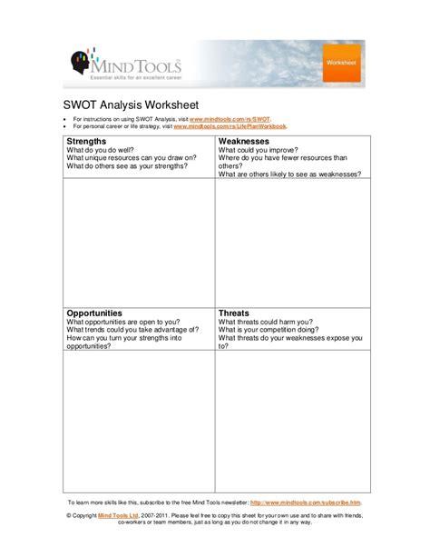 swot analysis worksheet template swot worksheet fioradesignstudio