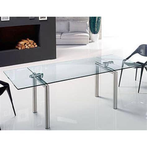 tavoli vetro e acciaio tavoli allungabili vetro e acciaio tavolo moderno design