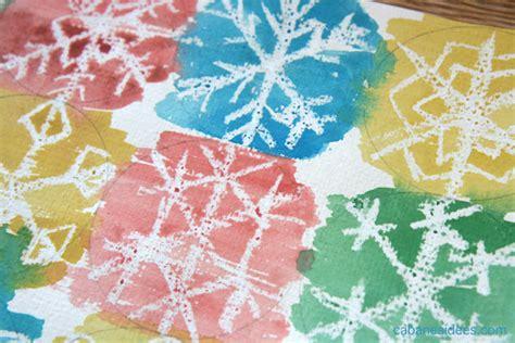Peinture Blanc Neige by Peinture De Flocons De Neige Au Crayon Blanc Cabane 224 Id 233 Es