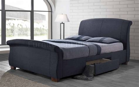 dark grey upholstered bed bristol 300524 upholstered bed in dark grey by coaster w