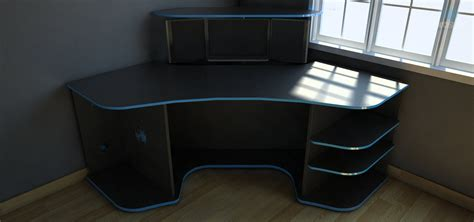 behance r2s gaming desk by prospec designs drew