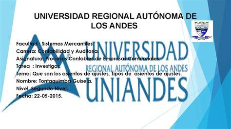 Mba Universidad De Los Andes by Asientos De Ajustes 2015 By Tontaquimba Guisela Issuu