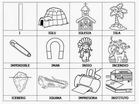 imagenes que empiecen con la letra se dibujos y palabras con la vocal i educanimando