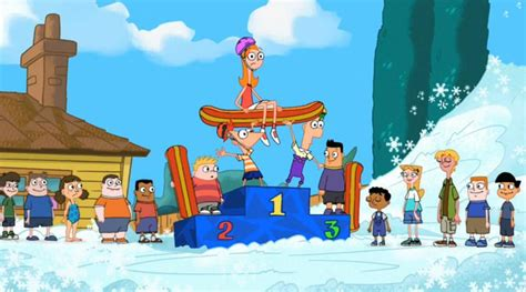 Brown Tv Stand With Mount by S Winter Phineas And Ferb Wiki Fandom Powered By Wikia