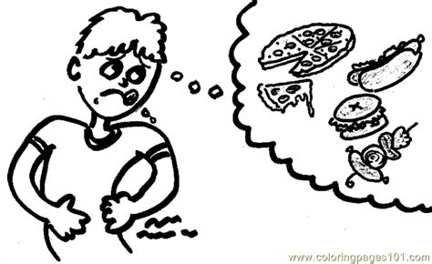 hungry boy coloring page hungry coloring page free breakfast coloring pages