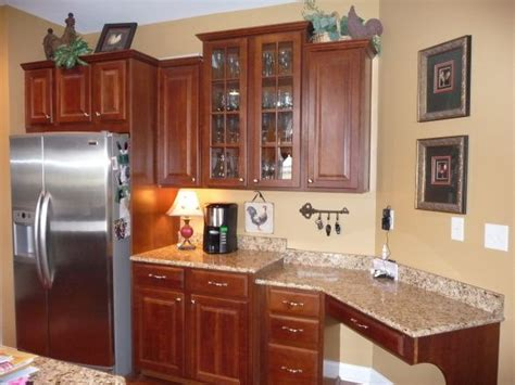 country kitchen with loads of color cherry wood