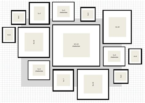 layout montage photo ikea ribba gallery wall layout 2 excel wall gallery