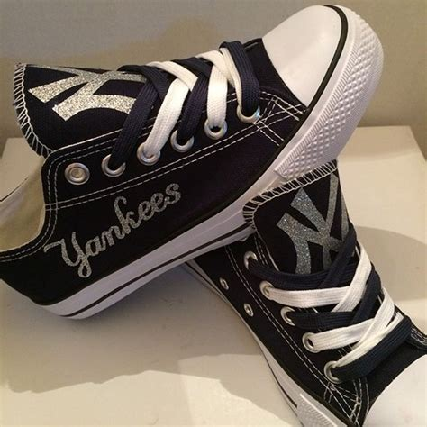 Handmade Shoes New York - new york yankees converse style shoes http