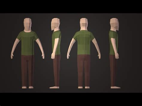 tutorial blender low poly pigart blender tutorial low poly character