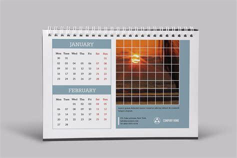 corporate desk calendar template on pantone canvas gallery